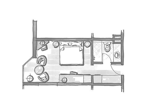 Example of room layout Comfort