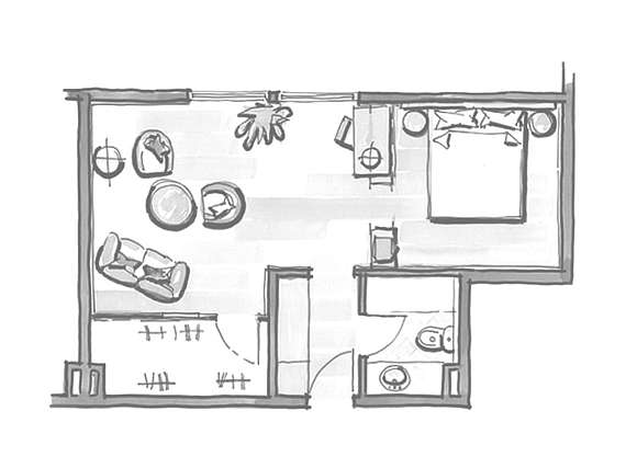 Example of room layout Junior Suite