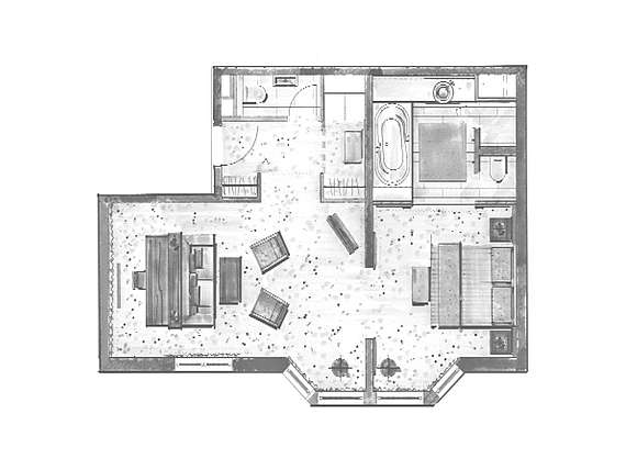 Example of room layout Superior Suite